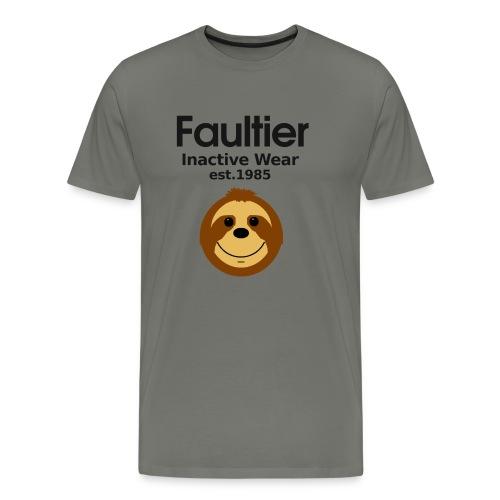 Faultier lustige coole Sprüche Sport Gym Yoga Teen - Männer Premium T-Shirt