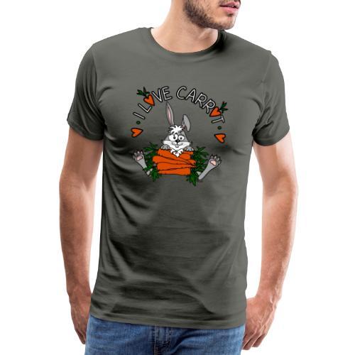 Lapin, Kaninchen, Coniglio, Humour, Legumes, Vegan - T-shirt Premium Homme
