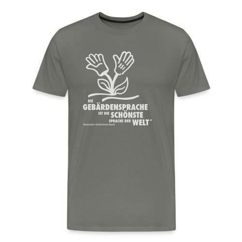 Gebärdensprache schönste Sprache der Welt (Blume) - Männer Premium T-Shirt