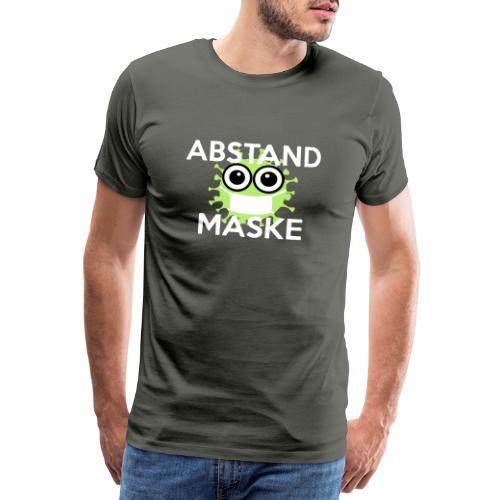 Mit Abstand und Maske gegen CORONA Virus- weiss - Männer Premium T-Shirt