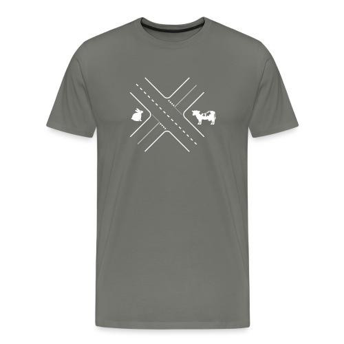Kruising tussen een konijn en een koe - Mannen Premium T-shirt