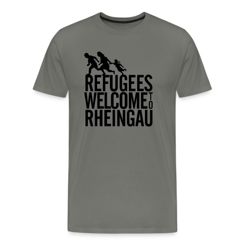 Refugees Welcome to Rheingau Pullover Front&Back - Männer Premium T-Shirt