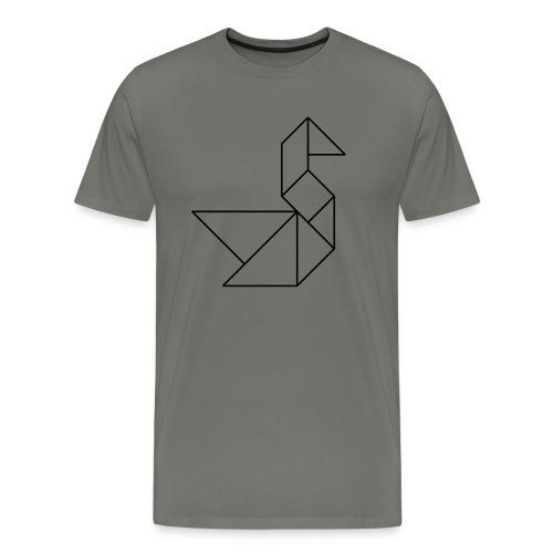 Tangram Schwan Kontur - Männer Premium T-Shirt