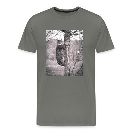 Grumpy Koala Katze im Baum - Männer Premium T-Shirt