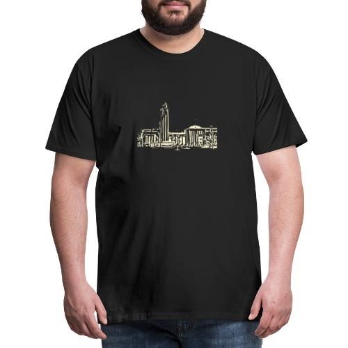 Helsinki railway station pattern trasparent beige - Men's Premium T-Shirt