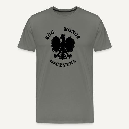 Bóg, Honor, Ojczyzna - Koszulka męska Premium