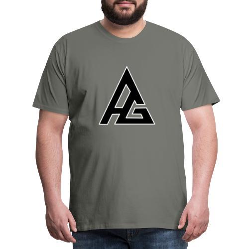 AG vit 1 - Premium-T-shirt herr