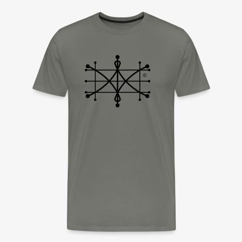 ParaWhisp Logo schwarz Copyright tranparent - Männer Premium T-Shirt