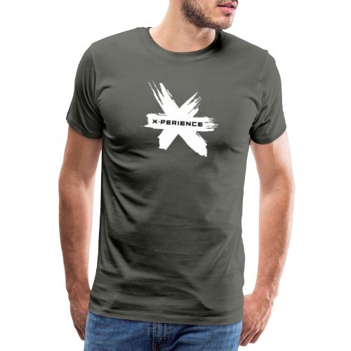 x-perience Logo weiß - Männer Premium T-Shirt