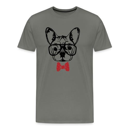 Nerdy Frenchie - Männer Premium T-Shirt