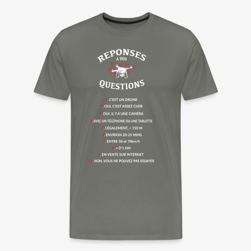 QUESTIONS REPONSES WHITE - T-shirt Premium Homme