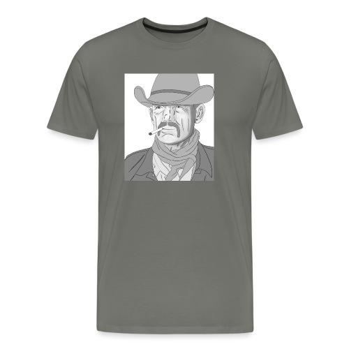 Retrato de vaquero con sombrero - Camiseta premium hombre