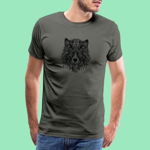 bohemian Wolf T-shirt - Mannen Premium T-shirt