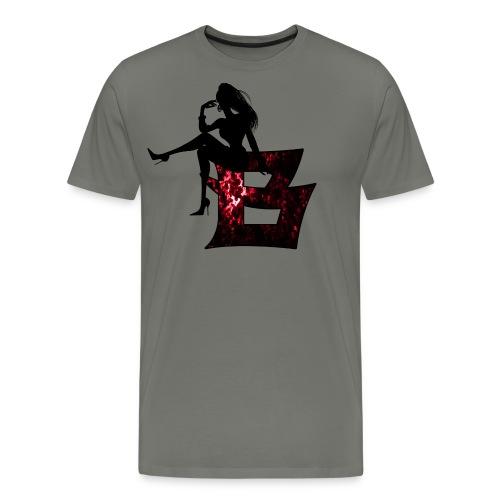 Sitting Woman Silhouette 2 png - Männer Premium T-Shirt
