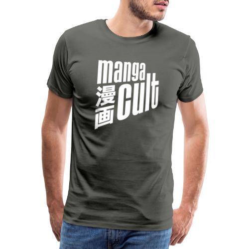 Manga Cult Logo Weiß - Männer Premium T-Shirt