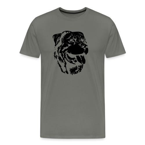 Rottweiler Kopf - Männer Premium T-Shirt