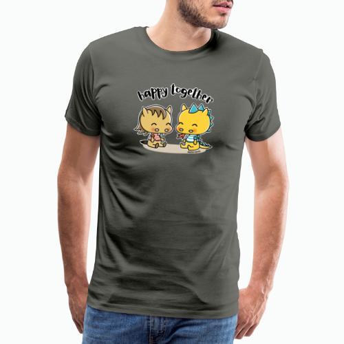 Happy Together - Pferd und Drache - Männer Premium T-Shirt