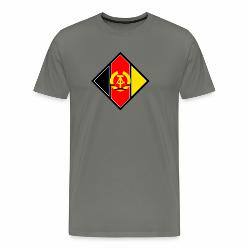 DDR coat of arms stylized - Men's Premium T-Shirt
