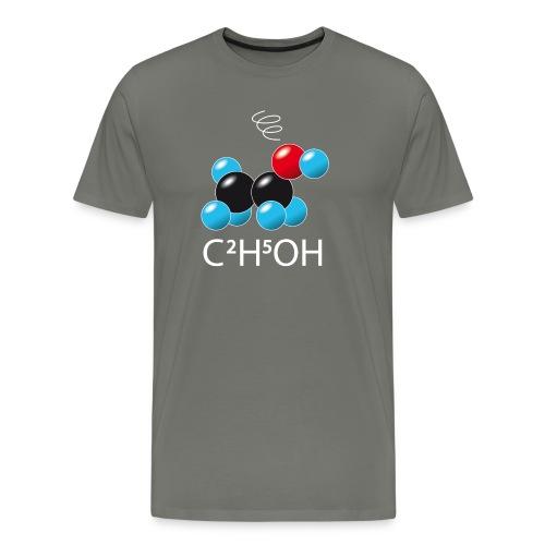 c2h5oh (sur Tshirts foncés) - T-shirt Premium Homme