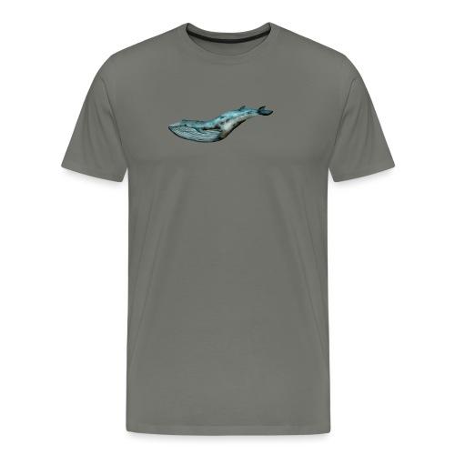 Ręcznie malowany wieloryb ocean - Koszulka męska Premium