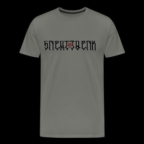 BLACK SNERTJOENK RED PENTAGRAM - Men's Premium T-Shirt