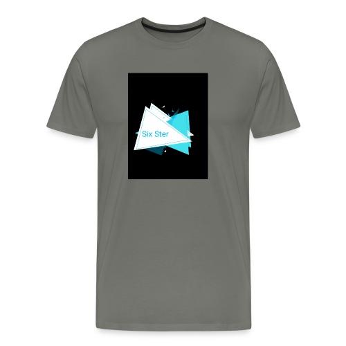 SixSter trujkątny wzór - Koszulka męska Premium