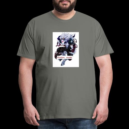 Loup Guerrier - T-shirt Premium Homme