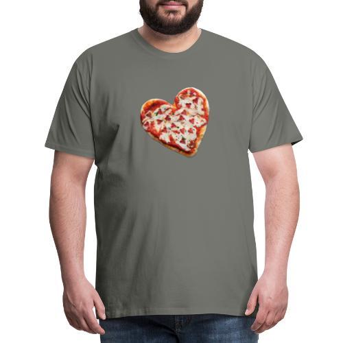 Pizza a cuore - Maglietta Premium da uomo