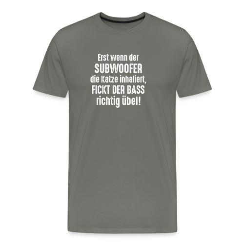 Subwoofer-Katze-Spruch der Bass fickt richtig übel - Men's Premium T-Shirt