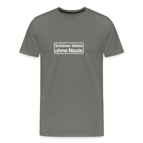 Schöner leben ohne Nazis - Männer Premium T-Shirt