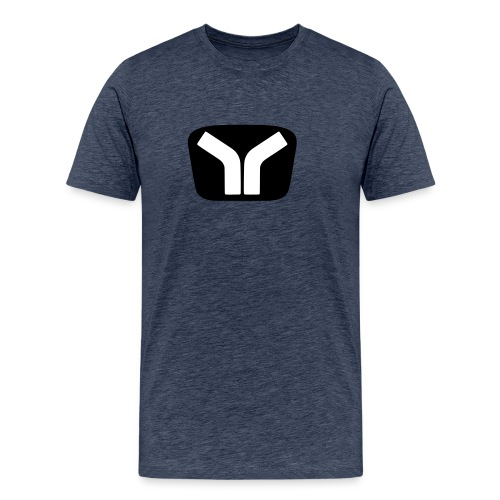 Yugo Logo Black-White Design - Men's Premium T-Shirt