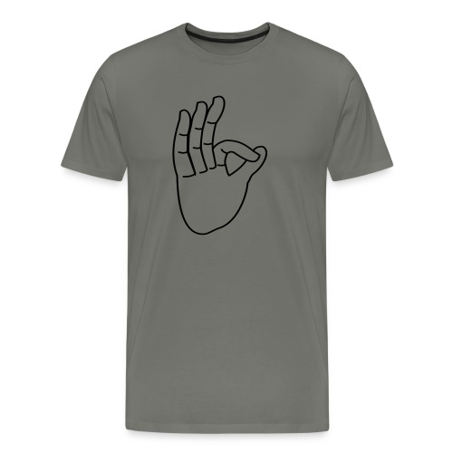 Schmegge Hand - Männer Premium T-Shirt