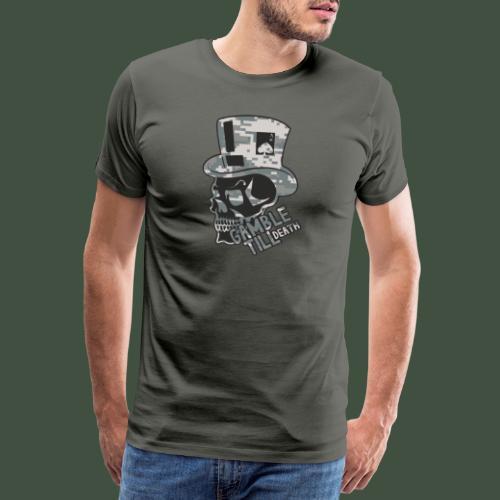 Gamble Till Death Camo Black - Männer Premium T-Shirt