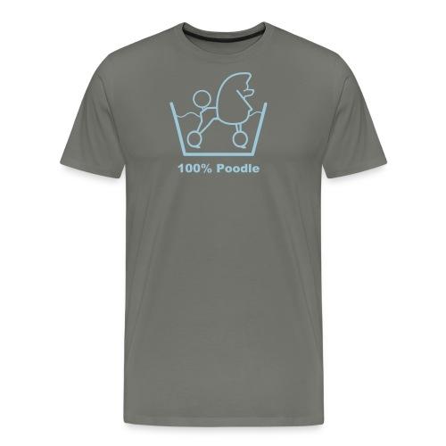 100 poodle - Men's Premium T-Shirt