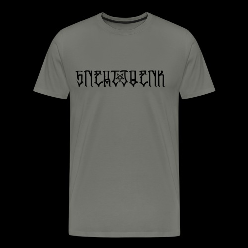 BLACK SNERTJOENK BLACK PENTAGRAM - Men's Premium T-Shirt