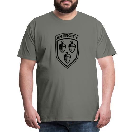 Akercity Schild 1 Kleur - Mannen Premium T-shirt