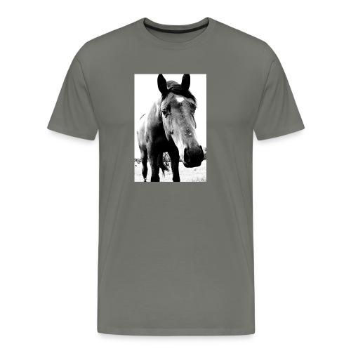 Hest - Premium T-skjorte for menn