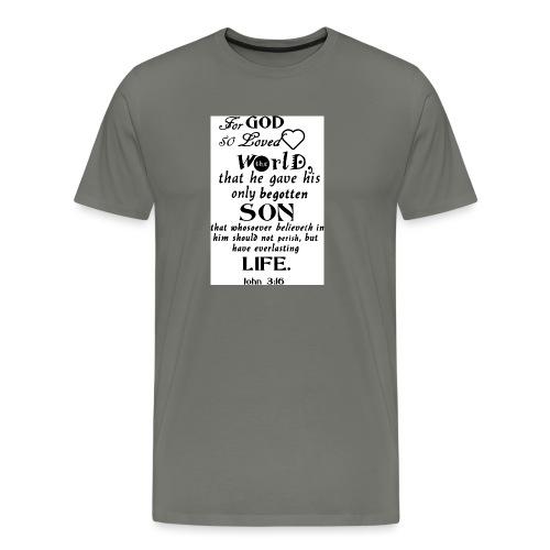 John 3 16 - Men's Premium T-Shirt