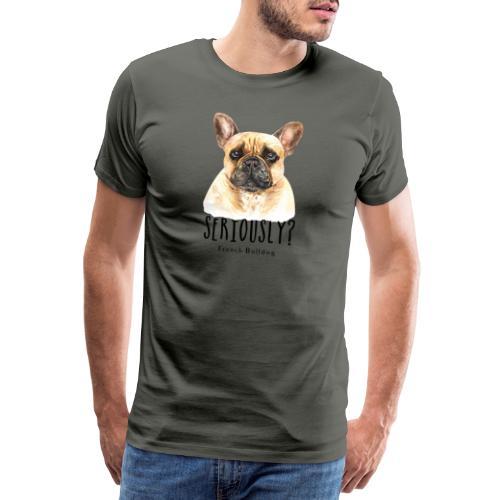 Grappige Franse Bulldog - Mannen Premium T-shirt