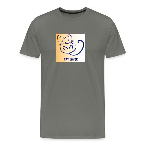Cat Lover - Premium-T-shirt herr