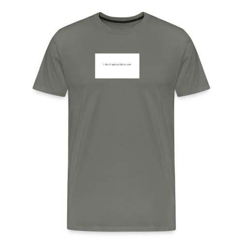 I_don-t_wanna_fall_in_love-pptx - Herre premium T-shirt
