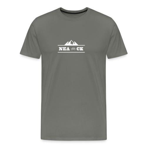 NeaCK hvit logo - Premium T-skjorte for menn