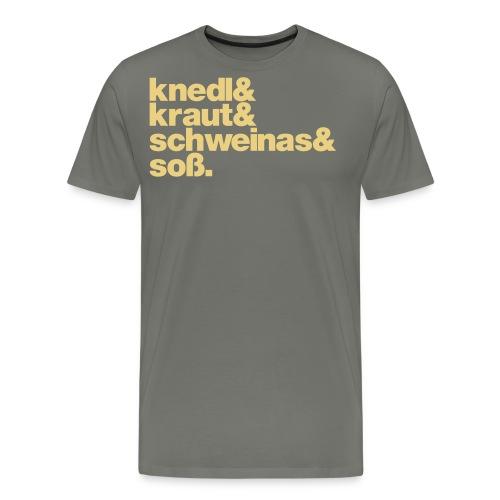 Knedl - Männer Premium T-Shirt