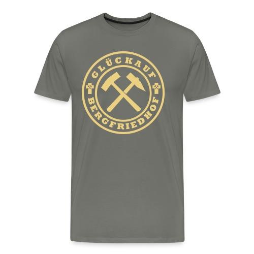Wappen Glückauf groß Plott - Männer Premium T-Shirt