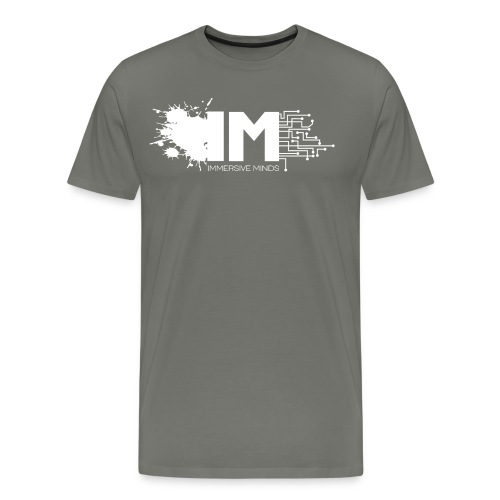 IM Logo Full White - Men's Premium T-Shirt