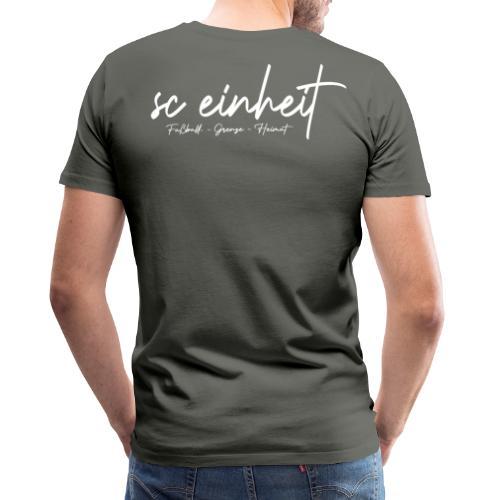 #fußballgrenzeheimat backprint - Männer Premium T-Shirt