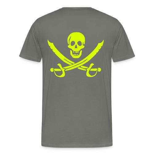 Piratenpullover Mann Weiß-Schwarz - Männer Premium T-Shirt