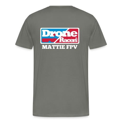 droneracers_logo_mattie_f - Mannen Premium T-shirt