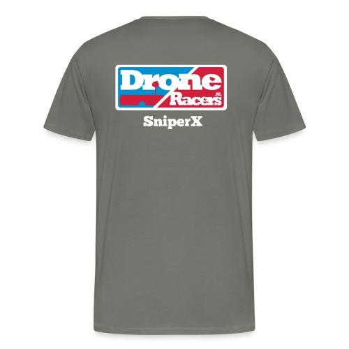 droneracers_logo_SniperX - Mannen Premium T-shirt
