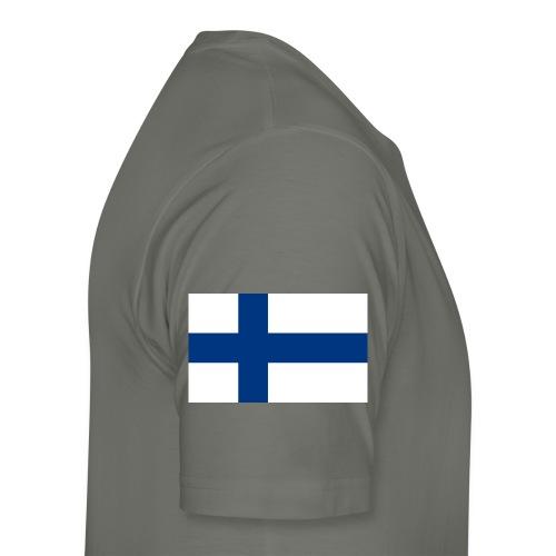800pxflag of finlandsvg - Miesten premium t-paita